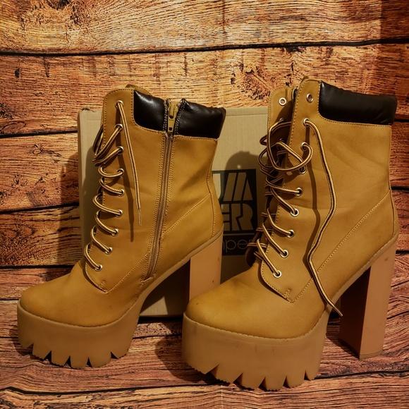 a4a13462221 Chunky Heel Work Boot